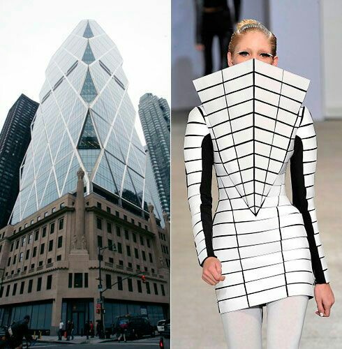 لباس شبیه معماری طراحی معماری شبیه لباس